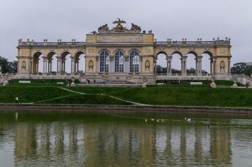 Schonbrunn garden monument Gloriette
