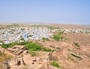 Jodhpur - the blue city. Rajasthan, India