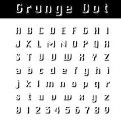 grunge dot font