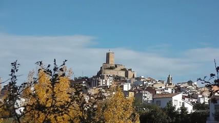 Banyeres de Mariola medieval castle time lapse view