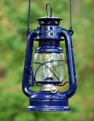 blue kerosene lamp