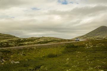 route en haute montagne norvégien