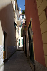 Ruelle étroite à Manarola en Italie