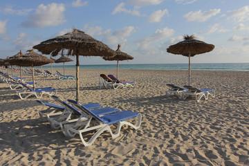 Sunny day on sand beach
