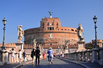 Majestatyczny zamek św. Anioła w Rzymie, Włochy
