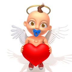 Baby Jake angel with heart