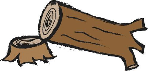 doodle deforestation concept