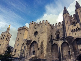 Palais des Papes in Avignon in France