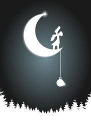 Mond Elch Weihnachten