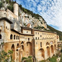 Monastery of St. Benedict near Subiaco, Lazio, Italy