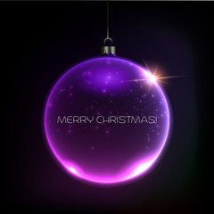 Merry Christmas Bauble greeting card