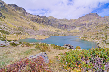 Estany Primer - one of the three lakes of Tristaina