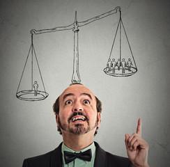 Leadership power judgement judicial system concept