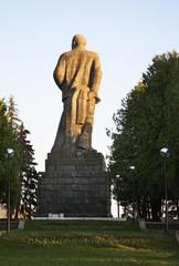 Statue of Vladimir Lenin at Dubna. Russia
