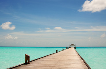 pier in the Maldives