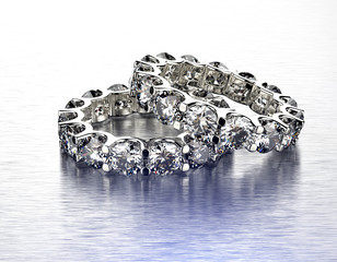 Luxury ring with diamond. Jewelry background