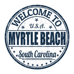 Welcome to Myrtle Beach stamp