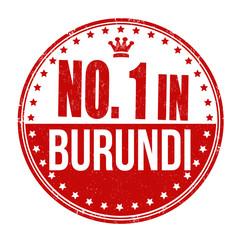 Number one in Burundi stamp