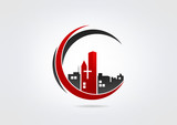 Logo Building Church Modren Business icon Church symbol.