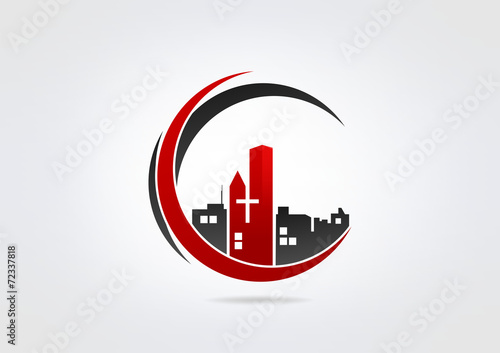 Logo Building Church Modren Business icon Church symbol. - 72337818