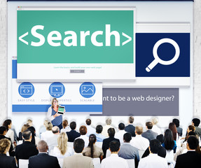 Business People Research Web Design Concepts