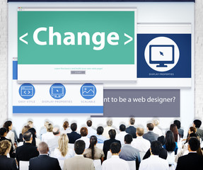 Business People Change Seminar Concepts