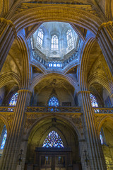 Barcelona Cathedral Interior, Catalonia, Spain