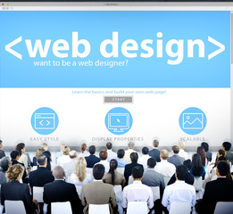Business People Web Design Seminar Concepts