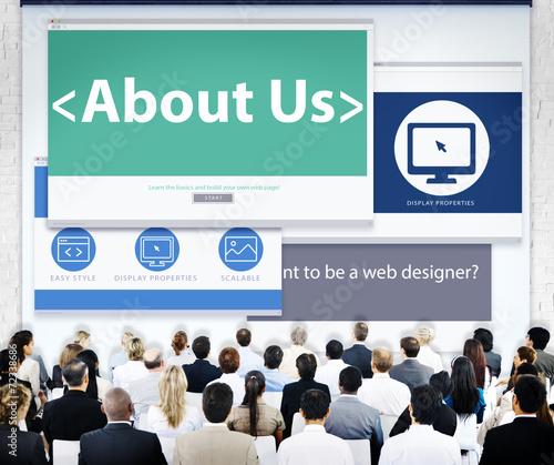 canvas print picture Business People About Us Web Design Concepts