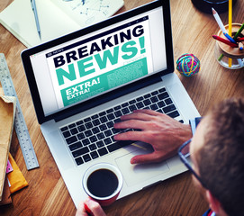 Man Breaking News Top Story Internet Connection
