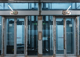 Modern building with an elevator