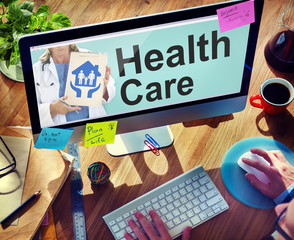 Online Healthcare Insurance Investment Plan Concept