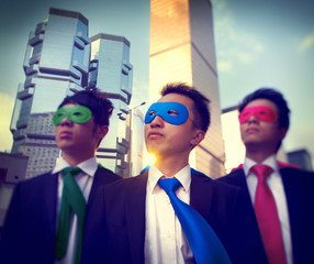 Businessmen Corporate Superhero City Concepts
