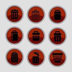 Trash icons