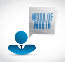 word of mouth avatar message illustration design