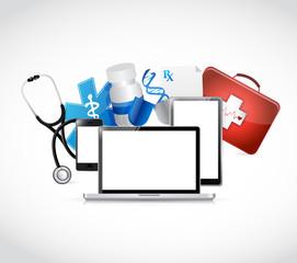 medical technology concepts illustration design