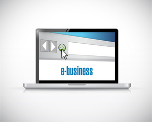 e-business laptop computer illustration