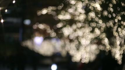 キラキラ クリスマスイルミネーションイメージ(玉ボケからフォーカスイン)