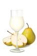 千両梨とジュース