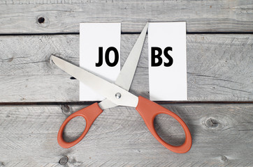 Jobs cutting concept