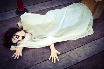 Halloween Doll woman creepy zombie