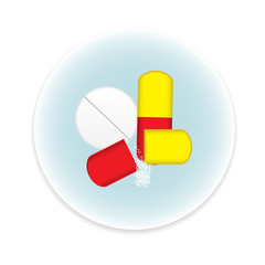 Pills icon on white background. vector