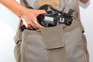 camera in bag