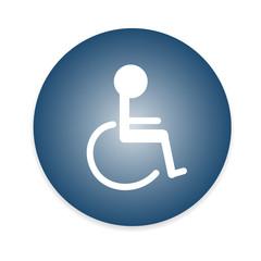 Handicap or wheelchair person symbol. vector illustration