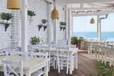 Fototapety Sea View Restaurant Interior