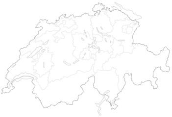 スイスの地図