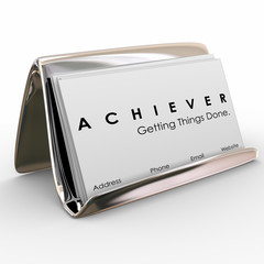 Achiever Getting Things Done Business Card Holder