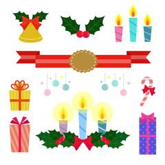 クリスマス アイテムセット / vector eps10