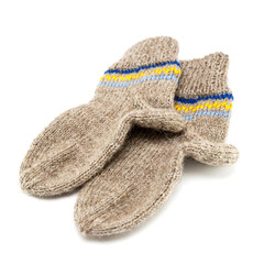 Wool socks crocheted.