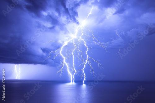 Foto op Plexiglas Onweer Lightning